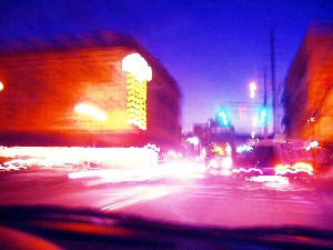 LANE * PHOTOGRAPHER,MARIAN-night scenes from a car 2