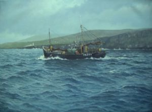 Tait,Jim-Old Fishing Boat and Lighthouse