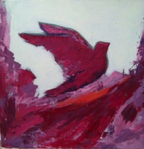 magenta bird color study 1