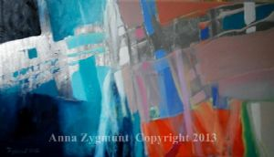 ZYGMUNT,ANNA-Abstract Discovery3.2012.oil on canvas.cm.40x70