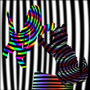 Casino Kitten Fight Op Art