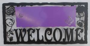 A Welcome Sign Purple by Alla Pikovski
