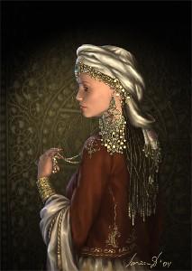 Dedkova,Larissa-Oriental portrait