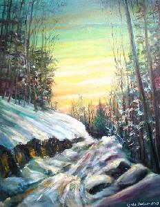 DayLyn Logging Road in Winter