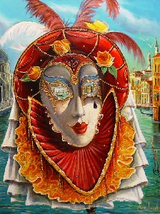 Levin,Alex-VENICE THRU THE MASKS' EYES
