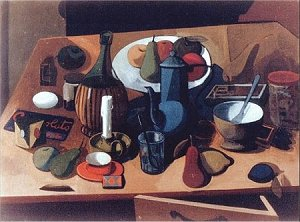 Still-life with red cup