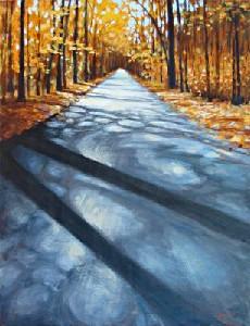 Autumn on Mountain Road