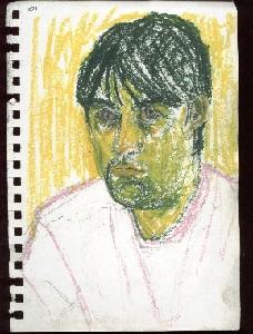 peterson,andrew-self portait [oil-pastel]