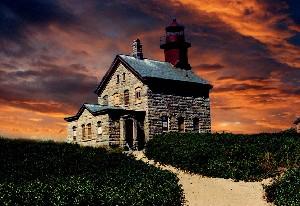 BLOCK ISLAND LIGHT HOUSE BEFORE