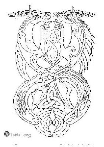 Celtic seahorses