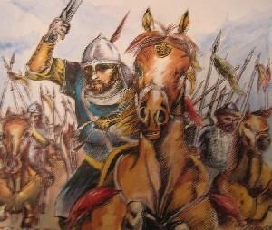 Warriors Riding Into Battle