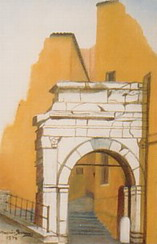 Arc of Richard in city of Trieste, Italy