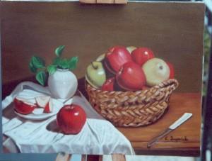 Cestino con mele