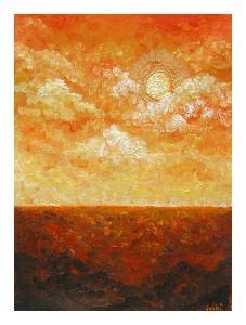 Golden sky, Warm earth