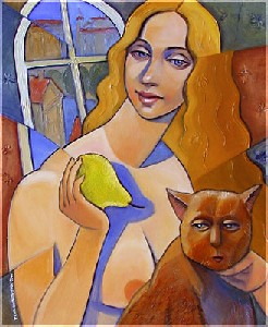 Lady With Pear.