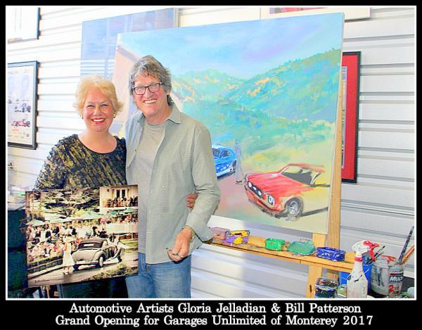 Automotive Artists Gloria Jelladian & Bill Patterson