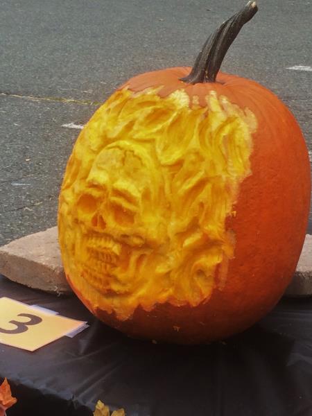 Flaming Skull 3D Pumpkin Carve