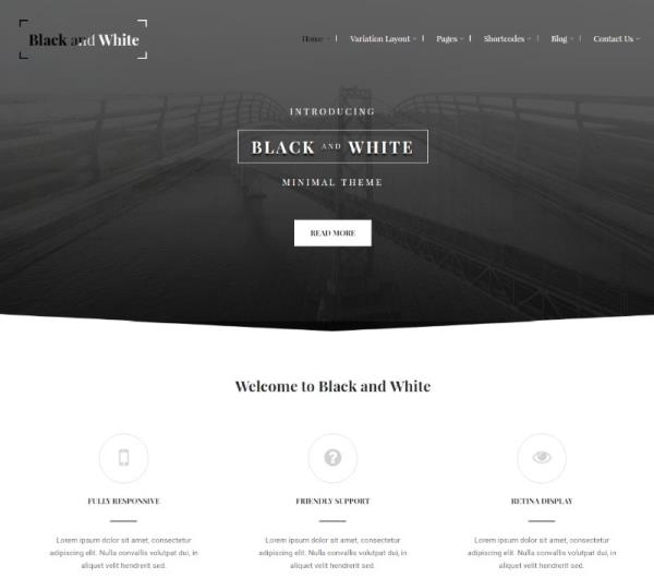 Aldea,Anna-Black and White WordPress Theme