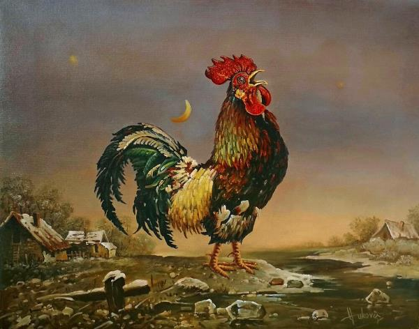 the Rooster at Dawn