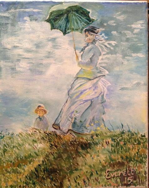 Copy of Monet's Lady with Parasol
