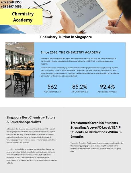 Chemistry Tuition in Singapore