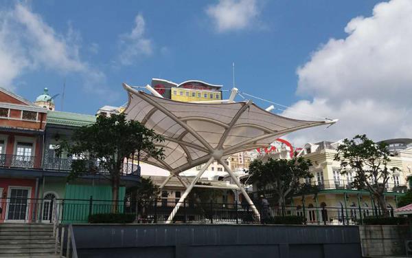 Macau Jackson Square Tensile Structure Canopy Project