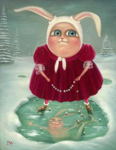 Winter Mermaid. Prints on Premium Canvas