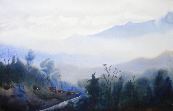 Mysterious Himalayan Mountain Landscape