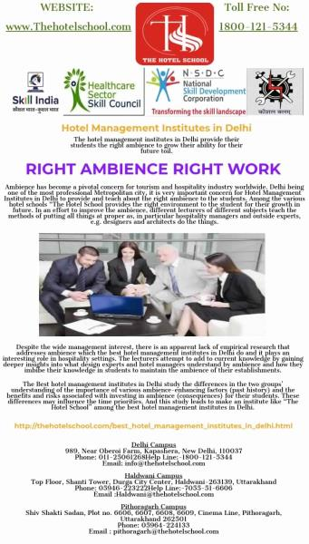 School,The Hotel-Hotel Management Institutes in Delhi