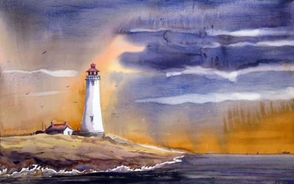 SARKAR,SAMIRAN-Lighthouse at Rainyday
