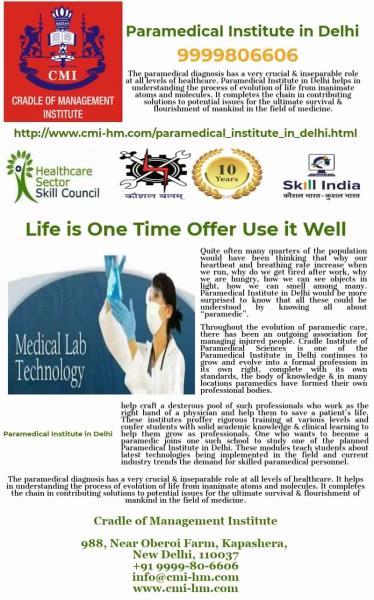 Institute,Cradle of Management-Paramedical Institute in Delhi NCR