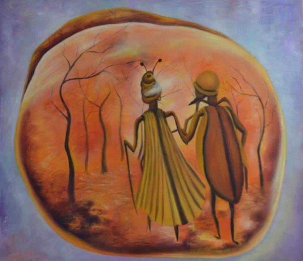 Eternal conversation in amber