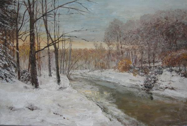 Paunovic,Slobodan-Winter motif with river