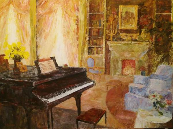 Interior with piano