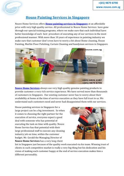 Home Services,Nouve-House Cleaning Services in Singapore