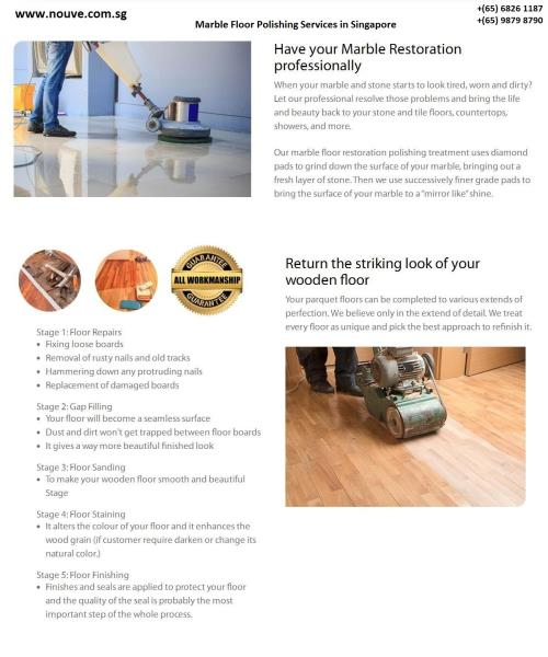 Home Services,Nouve-Marble Floor Polishing Services in Singapore