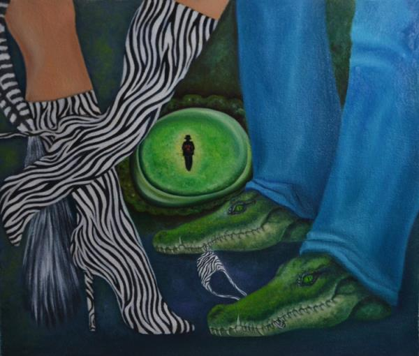 Magic eye of crocodile