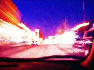 LANE * PHOTOGRAPHER,MARIAN-night scenes from a car 1