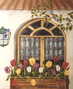 Tulipanes en mi ventana