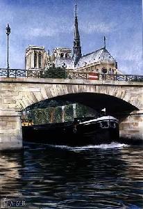 Pont de l'Archeveche-Paris