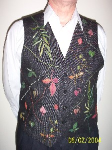 hand painted waistcoat