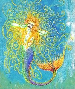 Long,Tania-Yawning blonde mermaid