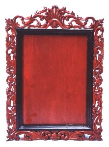 WILD PASSION - Hand Carved & Inlaid Wooden Frame for Mirror, Picture, Picture etc. in Solid Wood