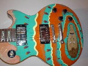 Upside-down Butthead Guitar