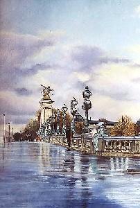 Apres l'orage sur le pont Alexandre III a Paris