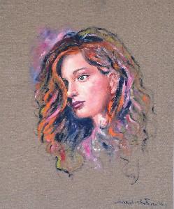 Donna con i riflessi nei capelli
