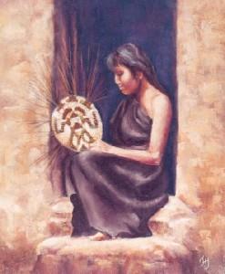 Hopi Basket Weaver