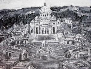 Europe B&W Series(Vatican detail)