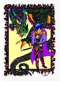 Yin Yan Warrior, computer coloured