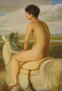 NUDE ON HORSEBACK